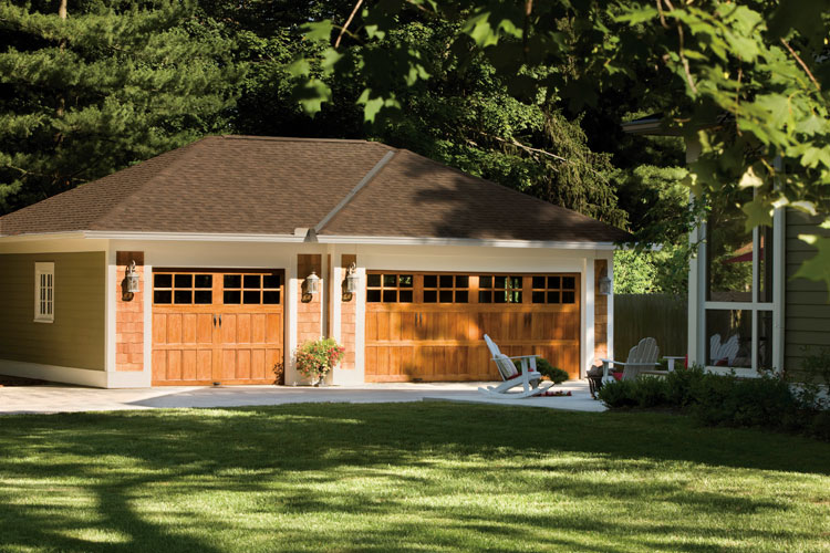 Garage doors and openers in berks montgomery and for Clopay wood garage doors